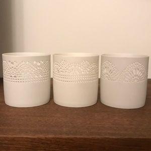 Hygge Lattice Design Holders (Set of 3)